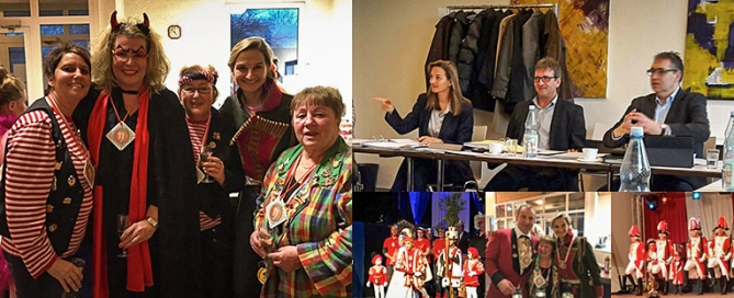 Patricia Peill im Karneval und Konferenz