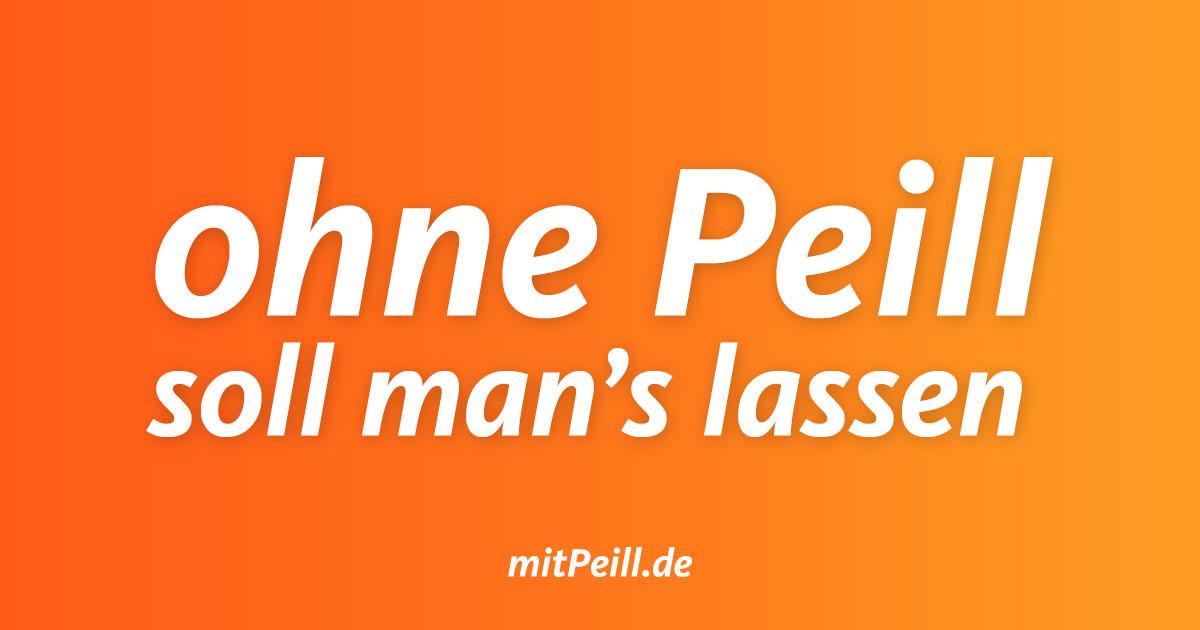 Patricia Peill ohne Peill soll man es lassen
