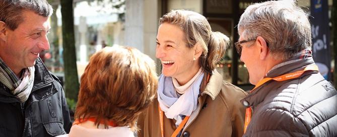Patricia Peill Wahlkampf mit Freude und Peill