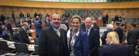 Patricia Peill mit Ralf Nolten im Landtag