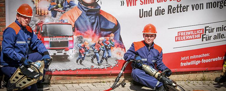 NRW Landtagsabgeordnete Patricia Peill bei der Freiwilligen Feuerwehr Nörvenich