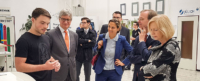 Ministerin Johana Wanka, MdB Thomas Rachel, Prof. Dr.-Ing. Wolfgang Marquardt und MdL Patricia Peill im Forschungszentrum Jülich