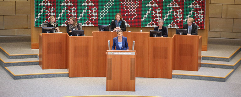 Dr. Patricia Peill (MdL) bei ihrer ersten Rede im NRW Landtag