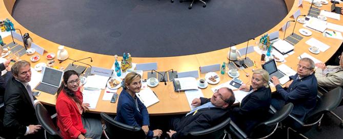 """Sitzung des """"Gesprächskreis Braunkohle"""" der CDU/CSU-Bundestagsfraktion im Marie-Elisabeth-Lüders-Haus in Berlin. Foto: Pressestelle"""