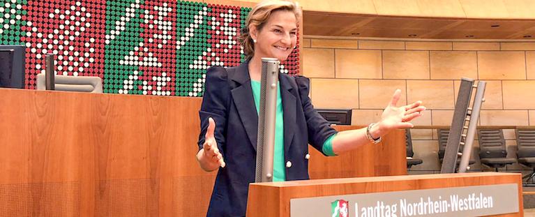 Patricia Peill im Landtag Düsseldorf. Foto: PPP