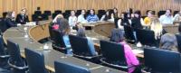 """Im """"Maschinenraum"""" der CDU-Fraktion kam Landtagsabgeordnete Patricia Peill mit den Jülicher Schülerinnen des Mädchengymnasiums ins Gespräch. Foto: PPP"""