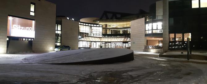 Der Düsseldorfer Landtag im Winter. Foto: Janine Maren Teipel