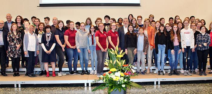 Festakt im Mädchengymasium Jülich zu 20 Jahre Austausch mit Frankreich und Belgien. Foto: Wolfgang Emde