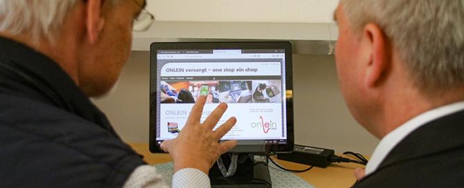 Online vor Ort shoppen. Das neue DORV-Projekt. Foto: PPP