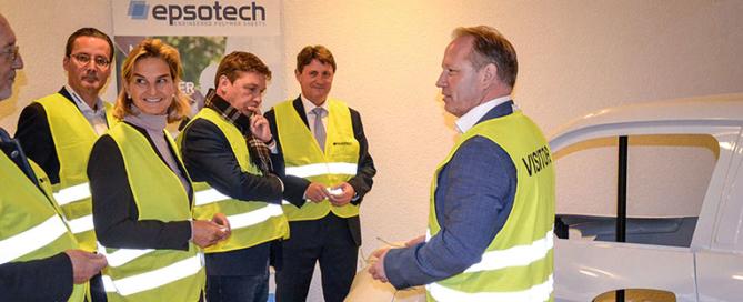 Besuch mit Peill bei epsotech in Jülich - Kirchberg