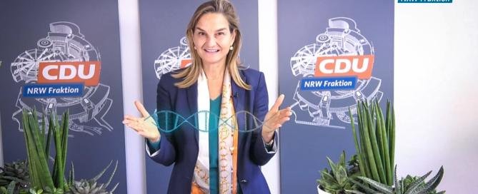Landtagsabgeordnete Patricia Peill zum Thema Genschere