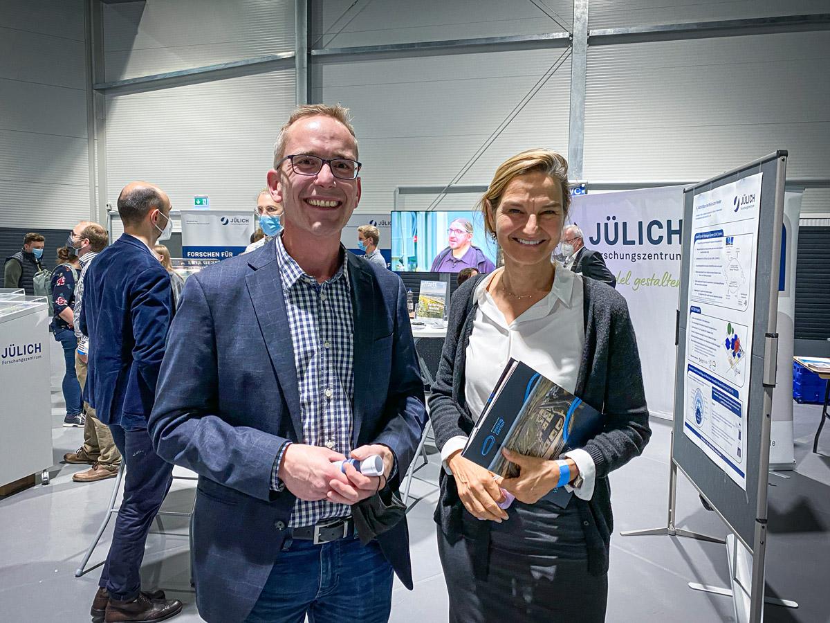 Wasserstoff-Messe Jülich, Dirk Lauterbach, Patricia Peill